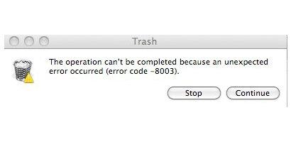 error code -8003