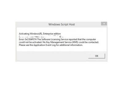 Fix Error Code 0xC004F074
