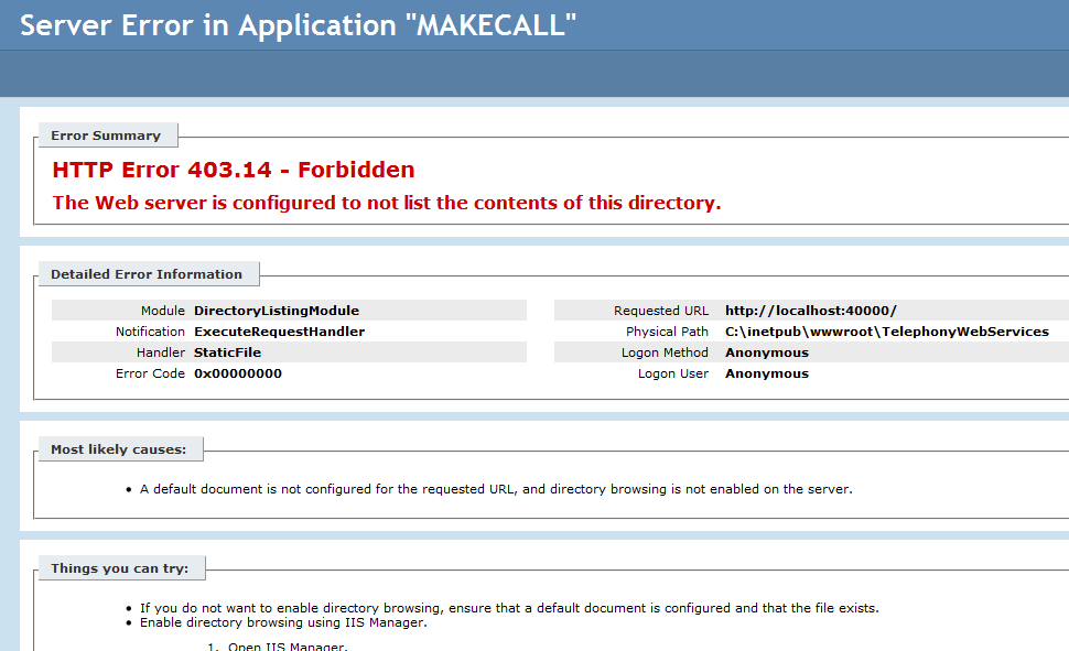 http error 403.14 forbidden
