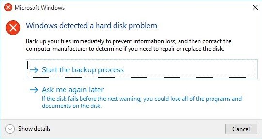 How to solve windows detected a hard disk problem